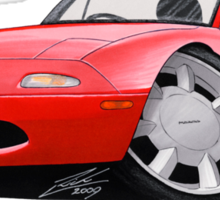 Mazda MX5 / Miata (Mk1) Red Sticker