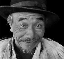 Naxi tribesman by VickiOBrien