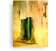 Still Life with  Wellingtons Metal Print