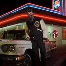 T-Bird Dave at the Route 66 Diner - Albuquerque, New Mexico by Mitchell Tillison