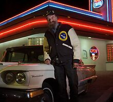 T-Bird Dave at the Route 66 Diner - Albuquerque, New Mexico by TheBlindHog