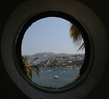 Casablanca Hotel Window On Acapulco  by Allen Lucas