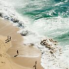 Beach birds eye view by mrfotos