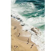 Beach birds eye view Photographic Print