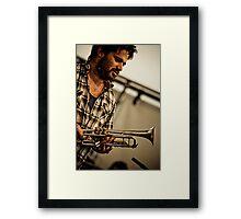 Harry's Trumpet Framed Print