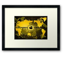 Abstraction with globe Framed Print