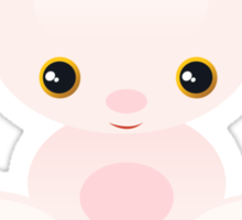 Little Pink Baby Bunny - The Shy Sticker