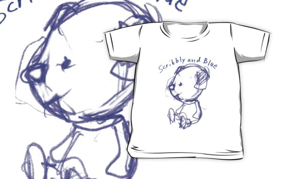 Monday shirt: Scribbly and Blue by Syd Baker