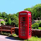 Old Red Phone Box by PICMART