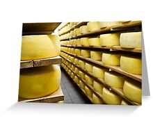 Cheese drying Greeting Card