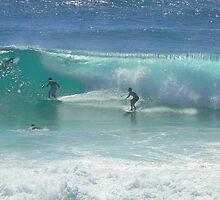 Surfing at Burleigh Heads #1 by Virginia McGowan