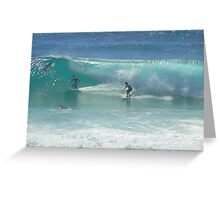 Surfing at Burleigh Heads #1 Greeting Card