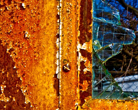 Rusty Window by ShahnaChristine .