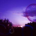 bubble purple planet by kissmelina