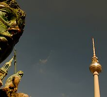 Berlin, Germany - Bronze statue gazes, forever by Sergio Kyriakis