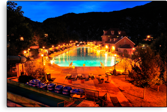 MIDNIGHT-GLENWOOD, CO- NATURAL HOT SPRINGS POOL by Duane Salstrand