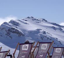 deckchairs at 3,000 Metres by mariewhite