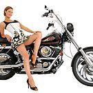 Alexandra Bromley - Harley Davidson Softail by DavidIori