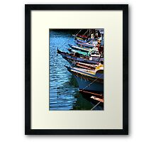 At The Wharf Framed Print
