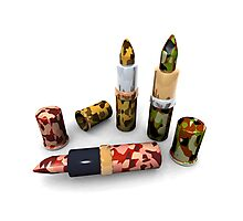 Camouflage lipsticks Photographic Print