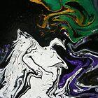 abstract - MASQUERADE 1 by Dawn  Hough Sebaugh