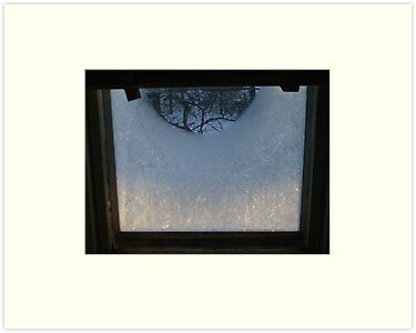Sunrise through Icy Window by AlteriorMotives
