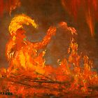 Flame Puppet, Playing in the Fire by Lenora