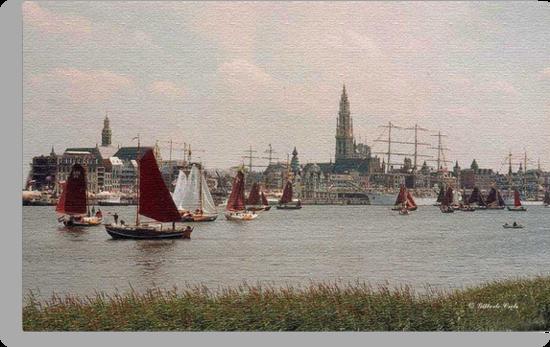 Antwerp Harbour by Gilberte