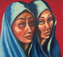 Maria and Maria Magdalena by Mai Kari  Hartvaag Zimbleman