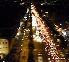 Champs Elysees from Arc de Triomphe by bambam775