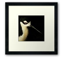 Almost Black And White Framed Print