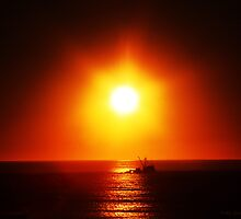 A Trawler's Sunset by Polly Peacock