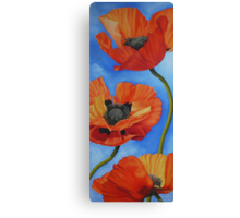 Sky full of Poppies Canvas Print
