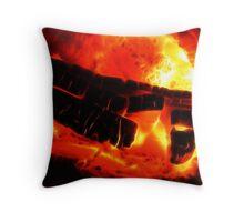 Blazing Hand of God Throw Pillow