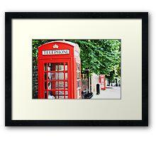 North London Phone Box Framed Print