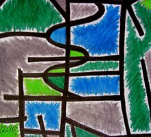 Abstract Léger no.4 by Orla Cahill