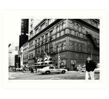 On the streets of New York (USA) Art Print
