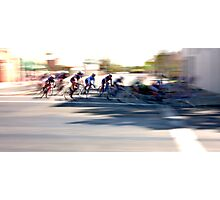Women cyclists Racing into the Turn Photographic Print