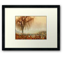 Calm in the fog Framed Print
