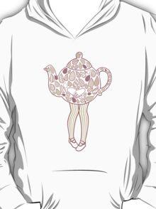 Teapot Girl - purple T-Shirt