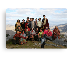 Family Portrait - Deprung Monastery Canvas Print