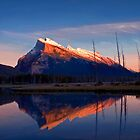 Mount Rundle Sunset, Vermillion lakes, Banff National Park, BC,  Canada by photosecosse /barbara jones
