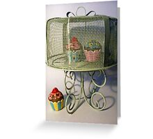 Candle cup cakes Greeting Card