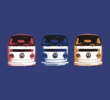 VW Kombi Shirt - Red Blue Orange by melodyart