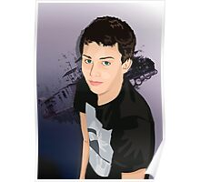 Teen Boy Vector Study Poster