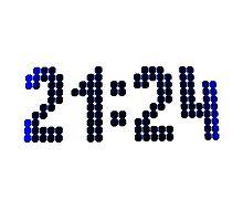 21:24 Photographic Print