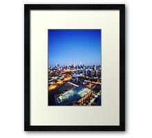 Melbourne Night Scape Framed Print