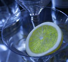 Blue Martini with Lemon by naturalexp