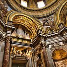 Interiors of S.Agnese in Agone, Roma by Andrea Rapisarda