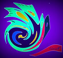 Abstract Bird by Lisa Taylor